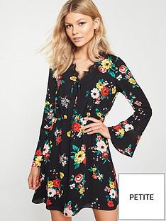 v-by-very-petite-lace-trim-printed-tea-dress-black-floral