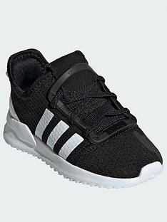 bf2f585ec59a adidas Originals U Path Run Infant Trainers - Black White