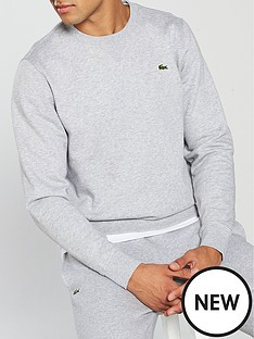 lacoste-crew-neck-sweat-grey