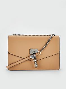 dkny-elissa-caviar-leather-flap-large-shoulder-bag-latte