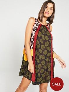 maison-scotch-scoop-back-mixed-pattern-shift-dress-ndash-printed
