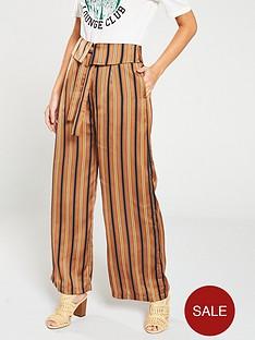 maison-scotch-wide-leg-fold-overnbspbeltednbsp-trousers-stripe
