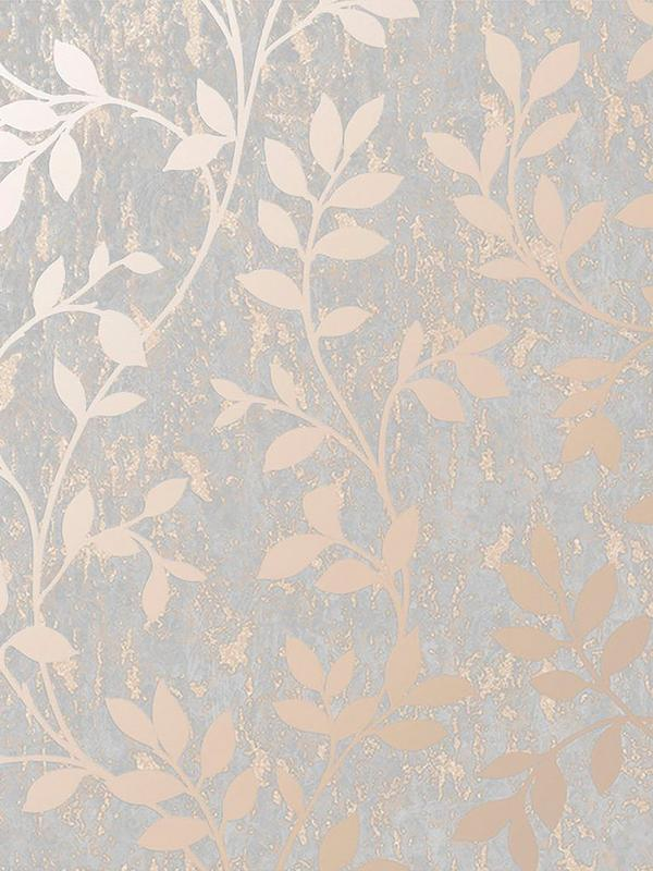Milan Trail Wallpaper Rose Gold