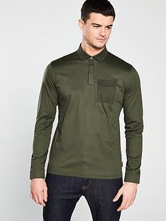 661fe8484ca26 Ted Baker Ted Baker Long Sleeve Polo Shirt - Khaki