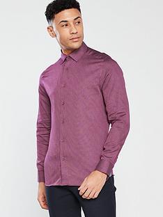 ted-baker-geometric-print-shirt-purple