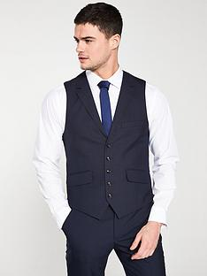 1cf49a66bea5 Ted Baker Sterling Check Waistcoat - Navy