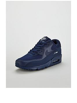 sports shoes 99b68 0a144 Nike Air Max 90 Essential Trainers - Navy