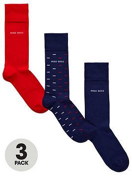 9ad59d784ba20 BOSS 3 Pack Sock Gift Set - Multiple Colours | littlewoodsireland.ie