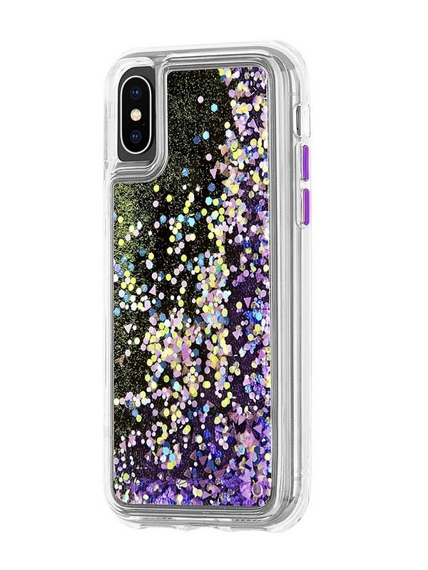 Waterfall Snow Globe Effect Protective Case In Purple Glow Iphone Xs Max