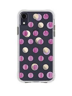 case-mate-wallpaper-ultra-slim-protective-case-in-pink-metalic-dot-print-for-iphone-xr