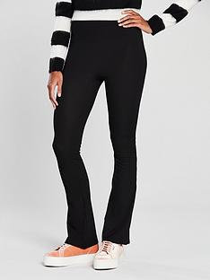 v-by-very-rib-flare-trouser-black