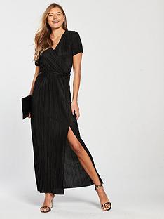 v-by-very-pleated-maxi-dress-black