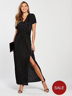 v-by-very-pleated-maxi-dress-black