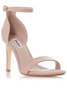 18099e3e6509 Dune London Merino Heeled Sandals - Camel