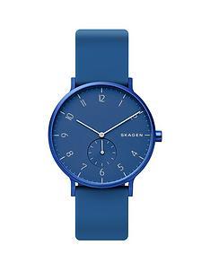 skagen-skagen-aaron-navy-dial-navy-silicine-strap-watch