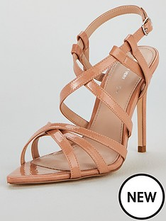 2712aa674276 V by Very Bounty Point Toe Heeled Strappy Sandal - Nude
