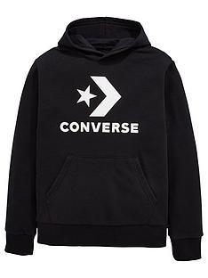 cd756f50c290 Converse Boys Stacked Wordmark Hoodie - Black