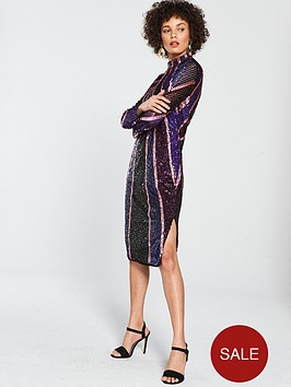 river-island-river-island-premium-sequin-midi-dress-purple