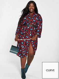 ax-paris-curve-leopard-print-wrap-dress-red