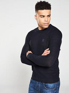 boss-knitted-chest-logo-sweater-navy