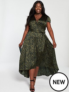 0846694d341 AX PARIS CURVE Dip Hem Maxi Dress - Green