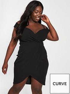 ax-paris-curve-wrap-front-bodycon-dress-black
