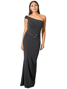 57a78403e6b Sistaglam Loves Jessica SISTAGLAM LOVES JESSICA WRIGHT ONE SHOULDER BODYCON MAXI  DRESS WITH BUCKLE WAIST