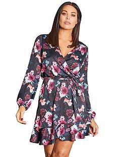 sistaglam-loves-jessica-sistaglam-loves-jessica-wright-mixed-print-floral-wrap-dress