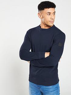 boss-casual-crew-neck-sweatshirt-navy
