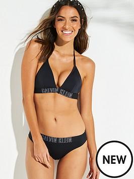 7f9daec4a8 Calvin Klein Intense Power Fixed Triangle Bikini Top - Black ...