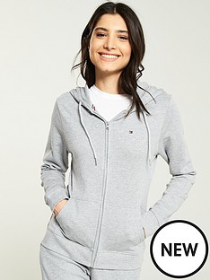 42d7a9b3e Tommy Hilfiger Tommy Original Zip Through Lounge Hoodie - Grey |  littlewoodsireland.ie