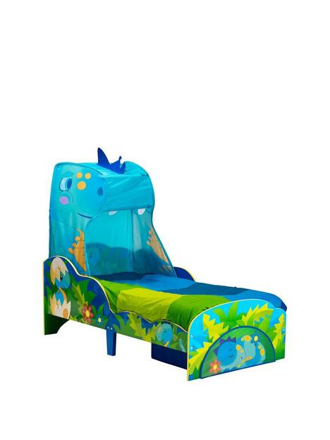worlds-apart-dinosaur-toddler-bed-with-canopy-and-storage