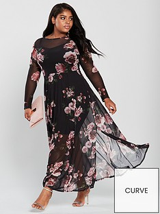 v-by-very-curve-stretch-mesh-print-maxi-dress-printed