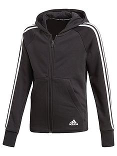 e705305e6a26 adidas Girls MH 3 Stripe Full Zip Hoodie
