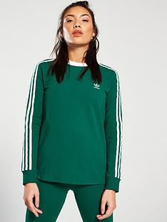 adidas-originals-3-stripe-long-sleeve-tee-greennbsp