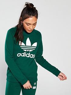 adidas-originals-trefoil-crew-sweat-greennbsp