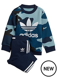 adidas Originals Baby Boys Camo Crew Set - Multi 7c35ef3e704b