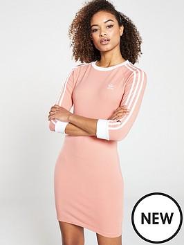 b8454ef285 adidas Originals 3 Stripes Dress - Pink