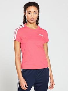 adidas-essential-3-stripes-slim-tee-pink