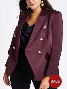 ri-plus-satin-blazer-purple