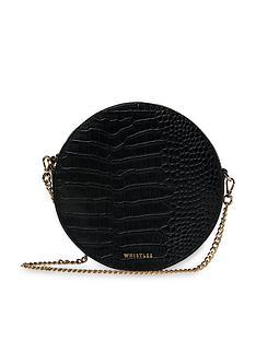whistles-leather-brixton-circular-croc-cross-body-bag-black