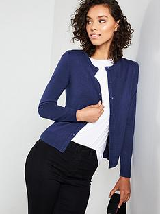 v-by-very-supersoft-crew-neck-cardigan-navy