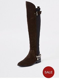river-island-river-island-chain-detail-knee-high-boots-brown