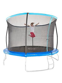 73eaf0d201add Sportspower 14ft Trampoline with Easi-Store Folding Enclosure & Flip Pad