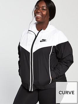 2d73348bf341 Nike Sportswear Jacket (Curve) - Black White