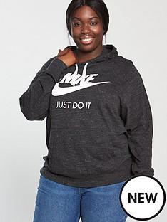 a86dcaee4e1a28 Nike Sportswear Gym Vintage Hoodie (Curve) - Black