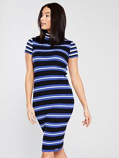 superdry-superdry-sporty-striped-ribbed-knitted-dress