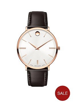 movado-movado-rose-gold-dial-black-leather-strap-mens-watch