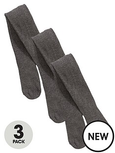 v-by-very-girls-3-pack-flat-knit-tights-grey
