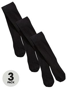 v-by-very-girls-3-pack-flat-knit-school-tights-black
